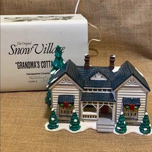 "Dept. 56 Snow Village ""Grandma's Cottage"" House"